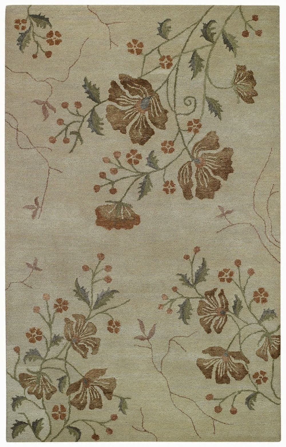 capel brock haven-orchids contemporary area rug collection