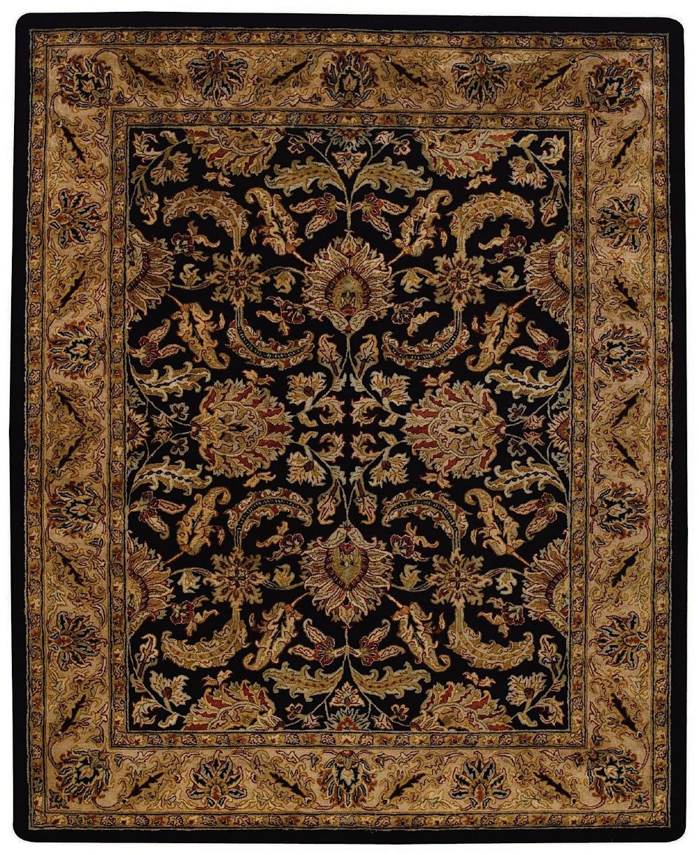 capel forest park-floral scroll traditional area rug collection
