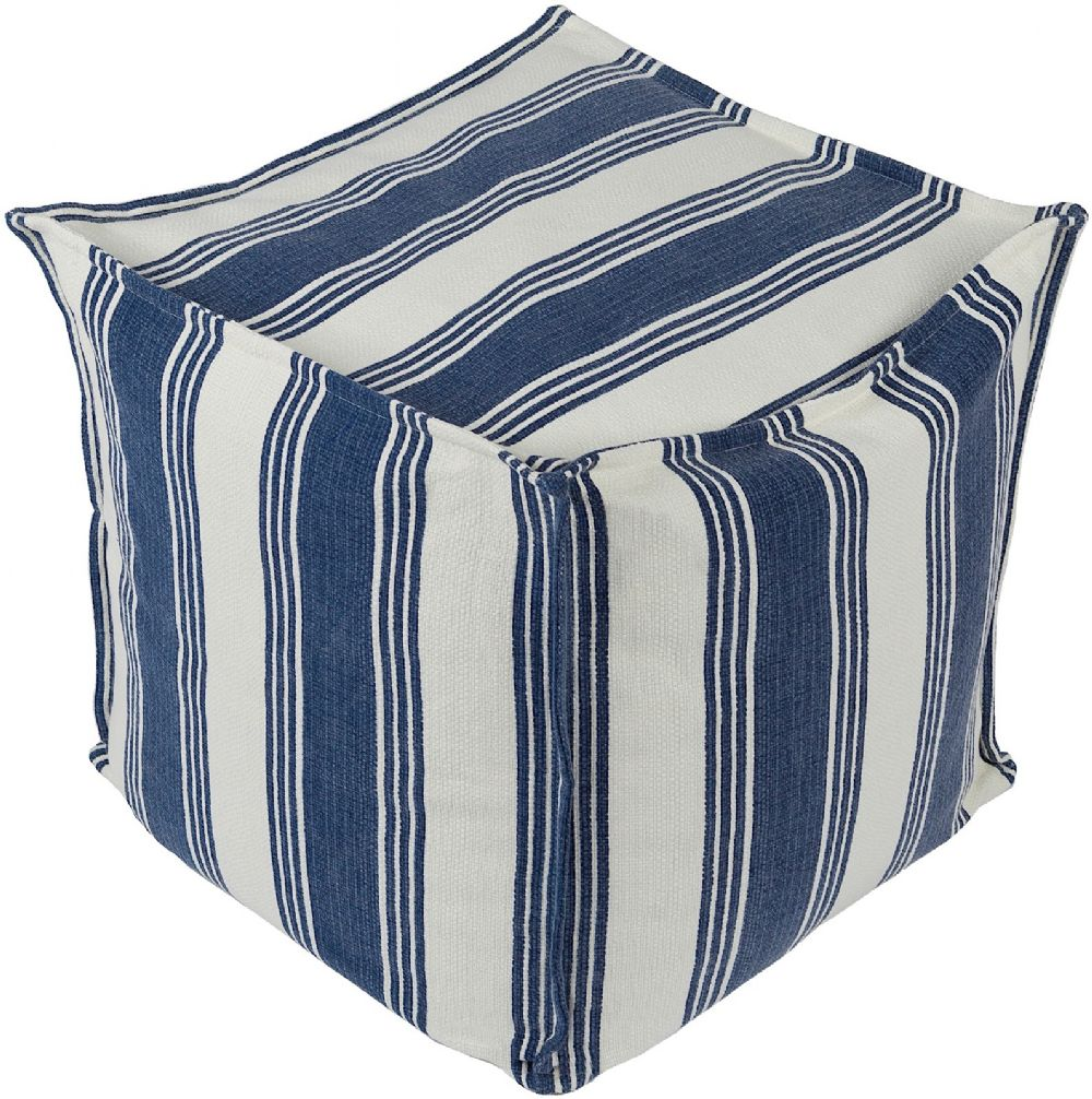 surya anchor bay solid/striped pouf/ottoman collection