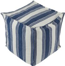 Surya Solid/Striped Anchor Bay pouf/ottoman Collection
