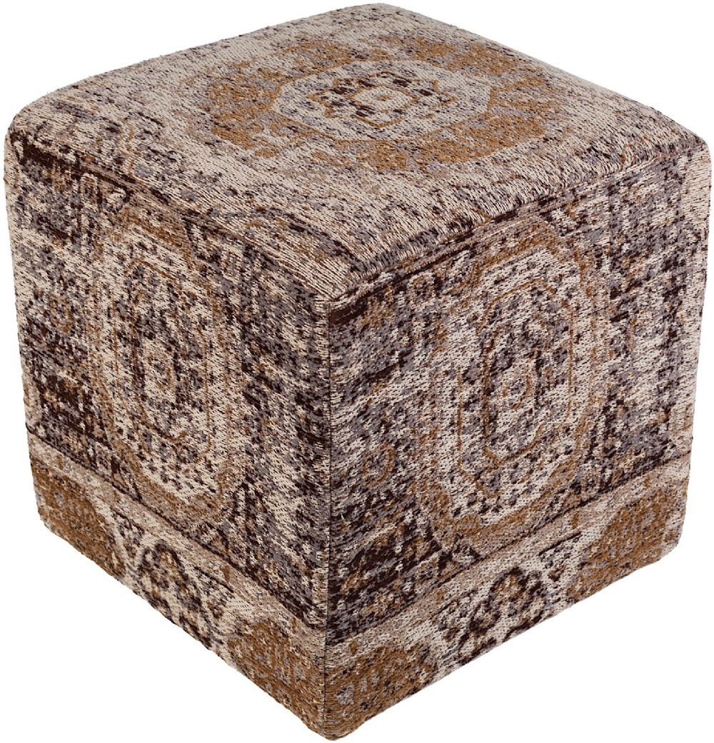 surya amsterdam traditional pouf/ottoman collection