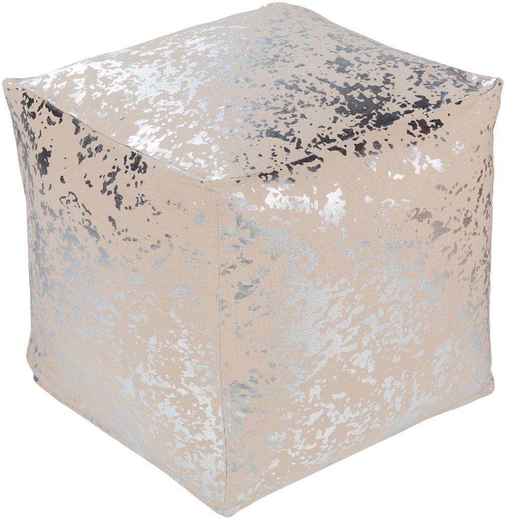 surya crescent contemporary pouf/ottoman collection