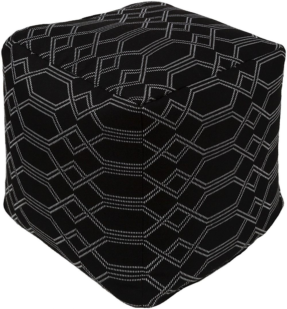 surya crissy contemporary pouf/ottoman collection