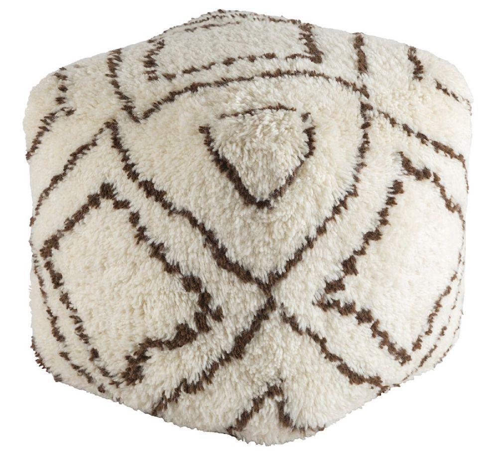 surya denali contemporary pouf/ottoman collection