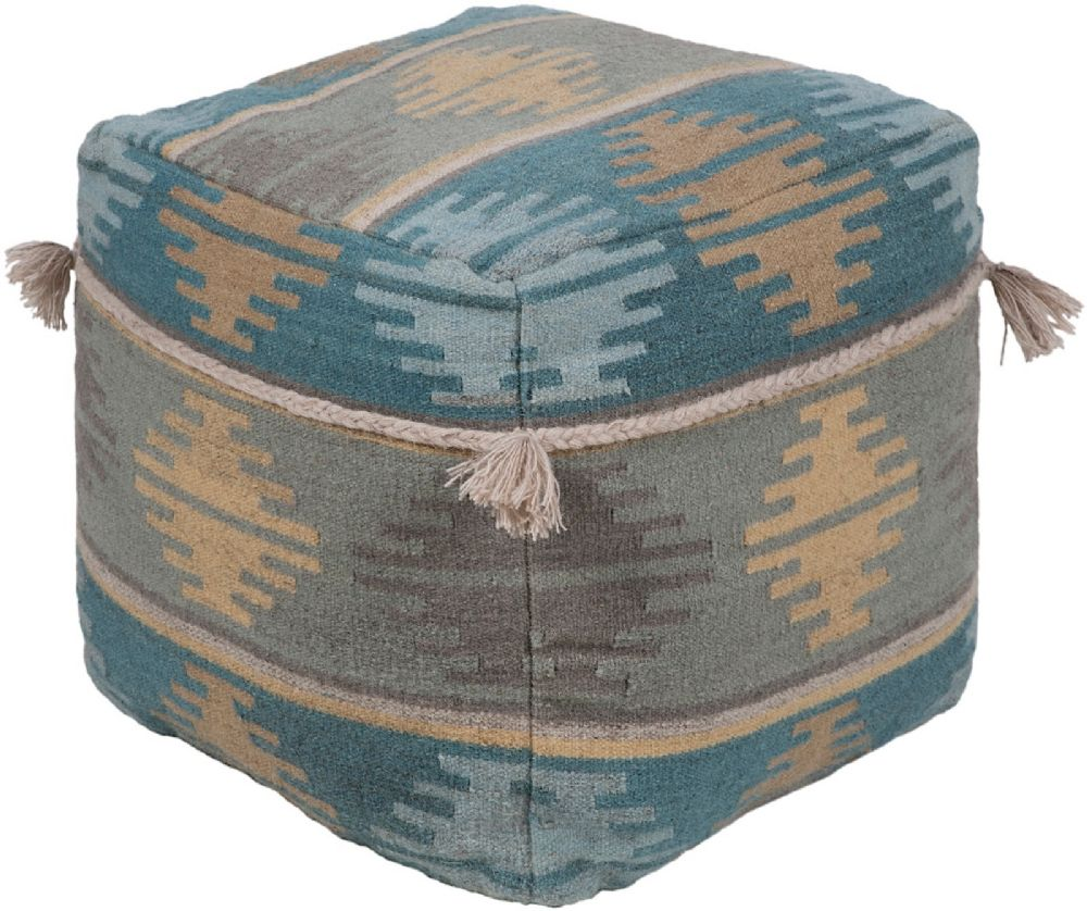 surya adia contemporary pouf/ottoman collection