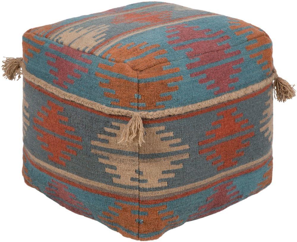 surya adia contemporary pouf/ottoman collection