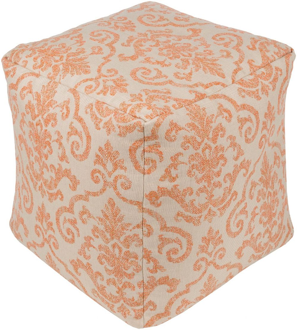 surya damara transitional pouf/ottoman collection