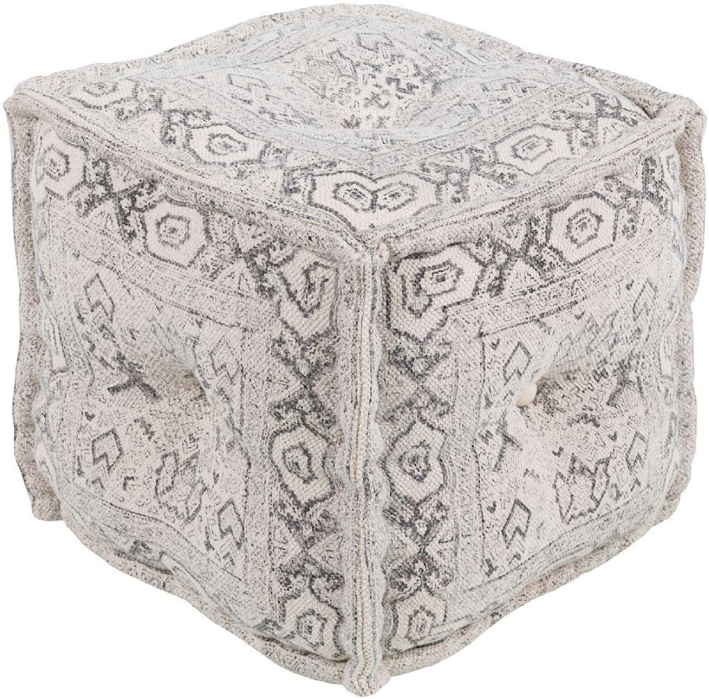 surya daveed traditional pouf/ottoman collection