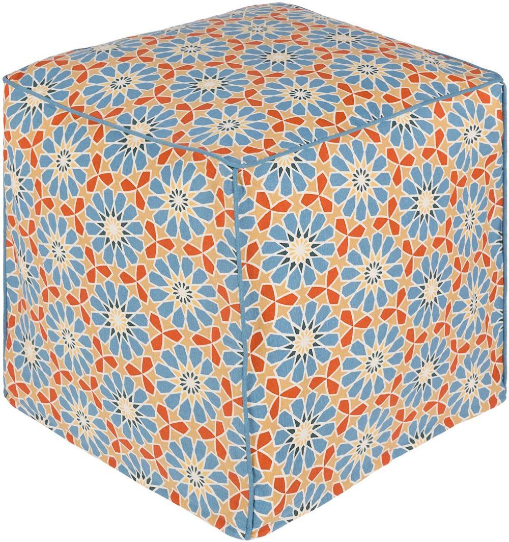 surya francesco contemporary pouf/ottoman collection