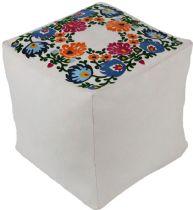 Surya Country & Floral Kapua pouf/ottoman Collection