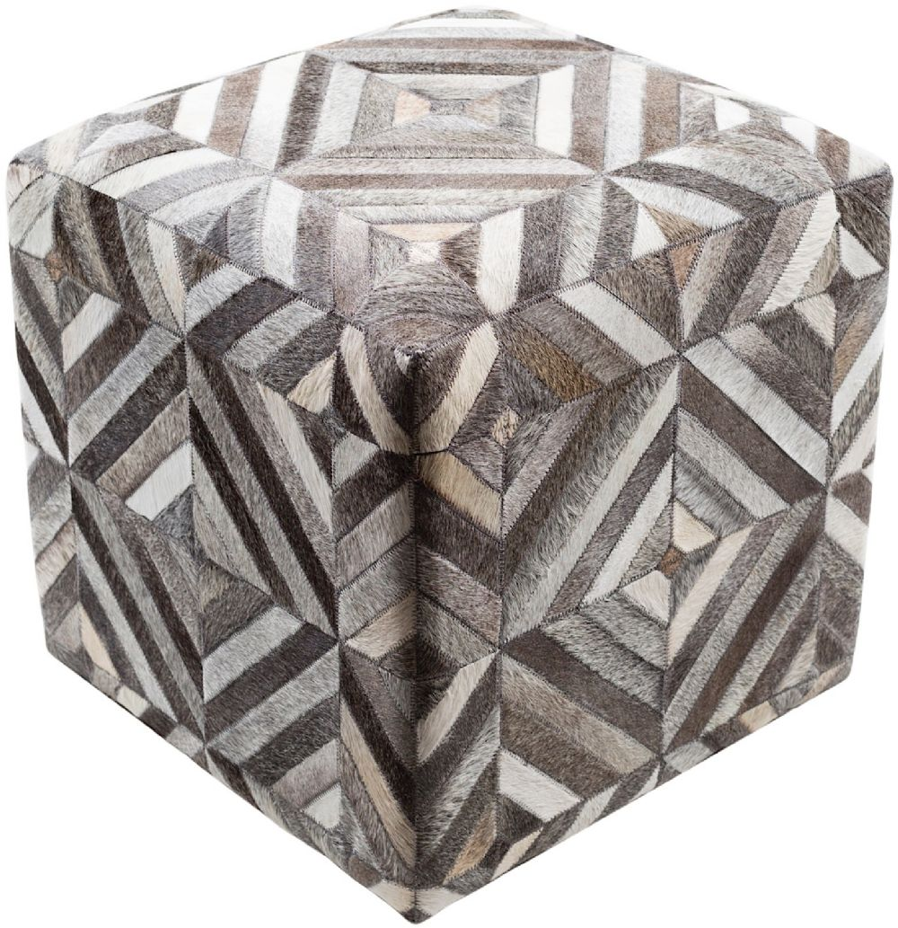 surya lycaon contemporary pouf/ottoman collection