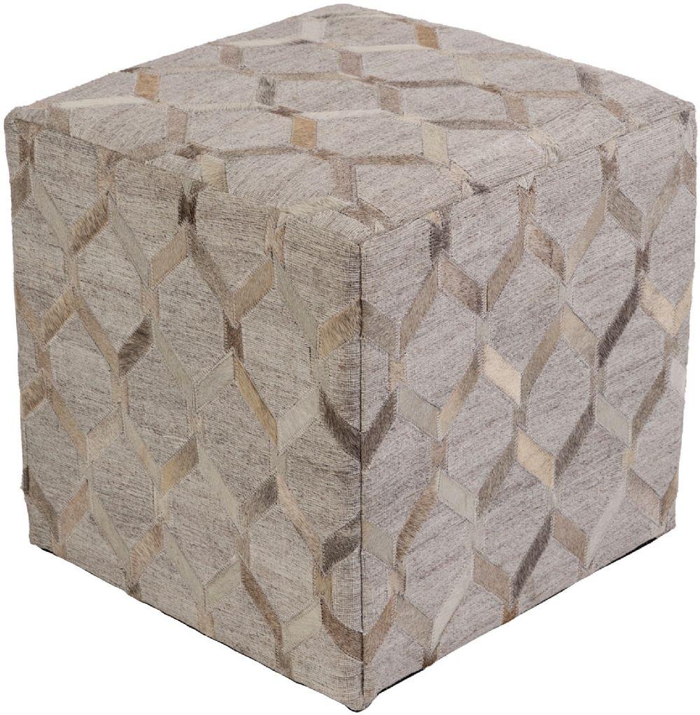 surya medora contemporary pouf/ottoman collection
