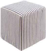 Surya Solid/Striped Matchford pouf/ottoman Collection