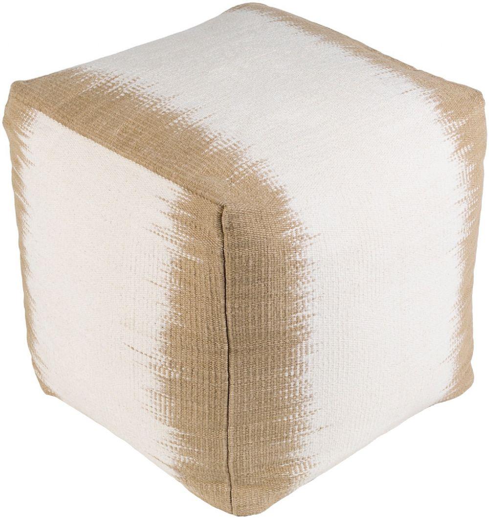 surya milford contemporary pouf/ottoman collection