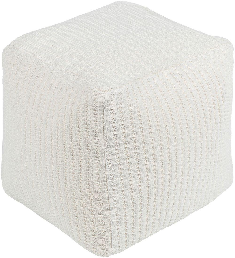 surya peabody natural fiber pouf/ottoman collection
