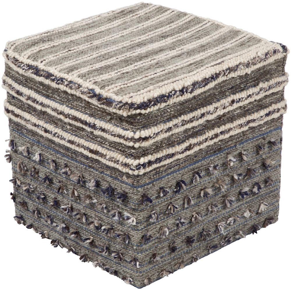 surya scotia braided pouf/ottoman collection