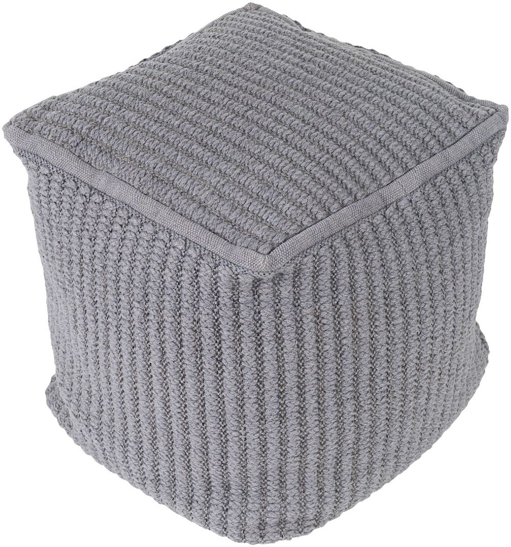 surya stafford braided pouf/ottoman collection