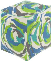 Surya Contemporary Technicolor pouf/ottoman Collection