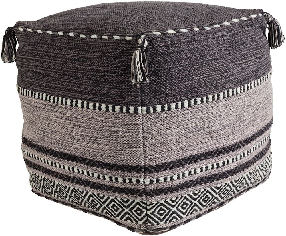 surya trenza braided pouf/ottoman collection