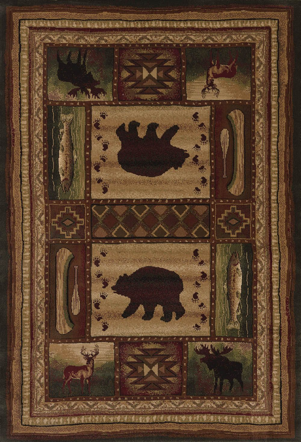 united weavers contours-cem bear wilderness southwestern/lodge area rug collection