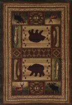 United Weavers Southwestern/Lodge Contours-Cem Bear Wilderness Area Rug Collection