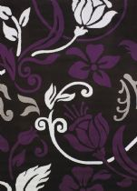 United Weavers Contemporary Cristall Collection Metro Plum Area Rug Collection