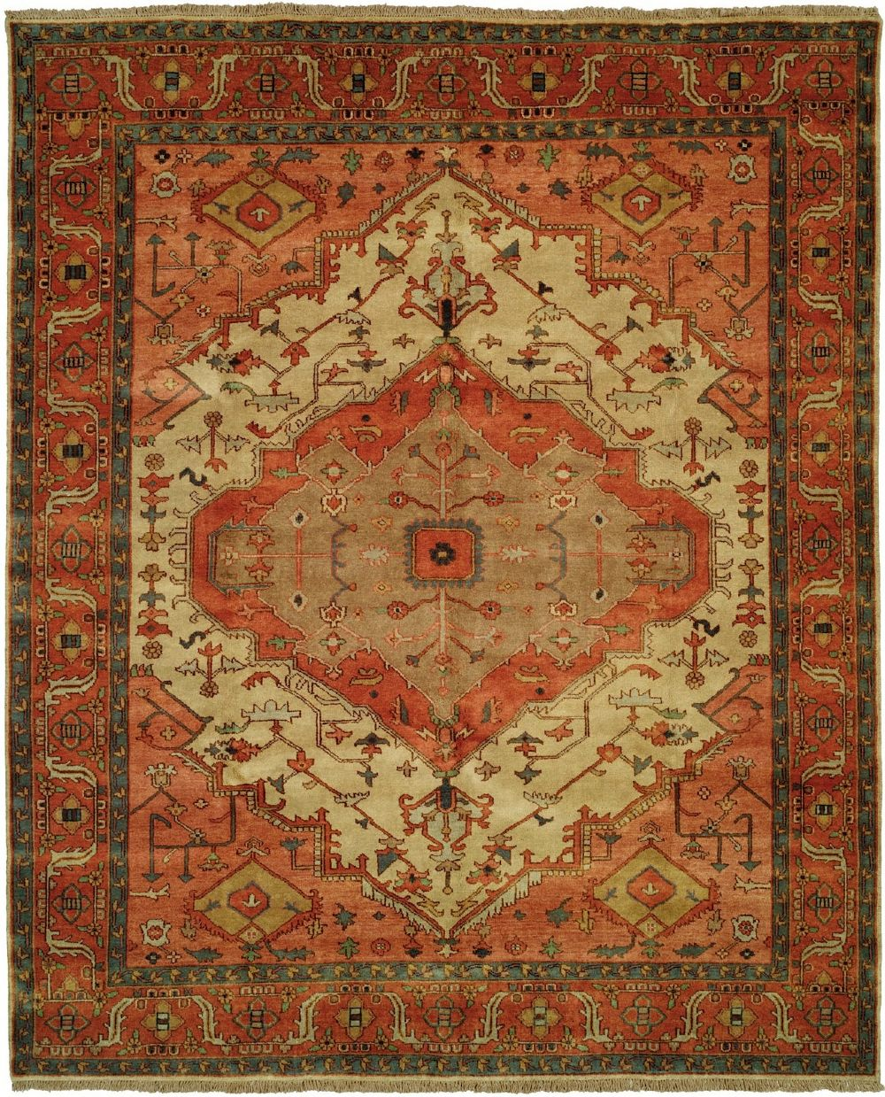 shalom brothers jules serapi traditional area rug collection