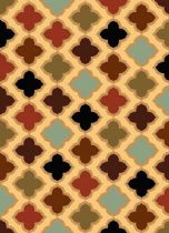 Well Woven Contemporary Sydney Lizzys Quatrefoil Area Rug Collection