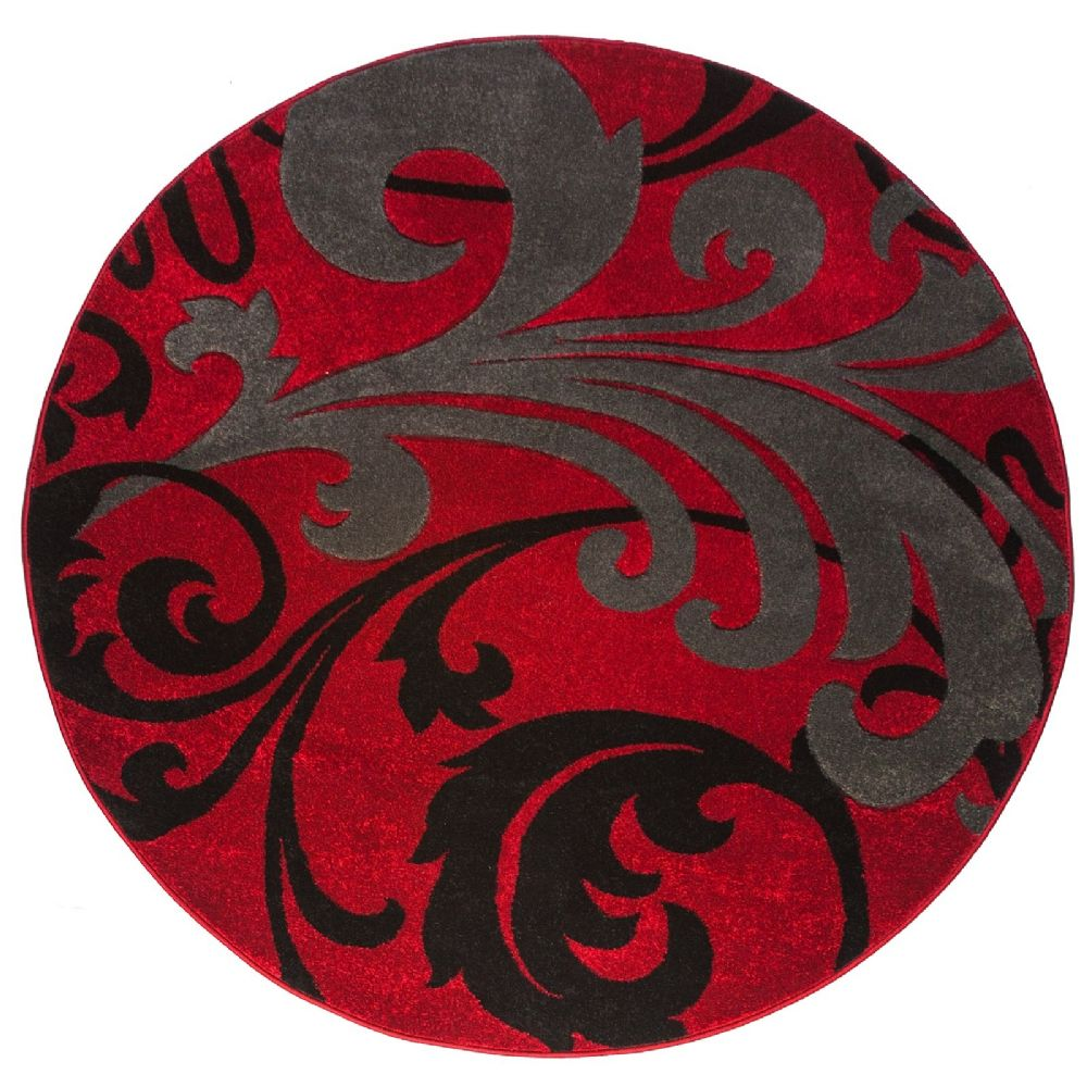 well woven ruby leslie fleur de lis brown contemporary area rug collection