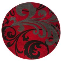 Well Woven Contemporary Ruby Leslie Fleur De Lis Area Rug Collection