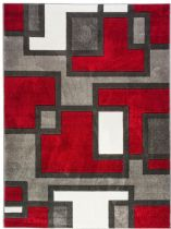 Well Woven Contemporary Ruby Imagination Squares Area Rug Collection