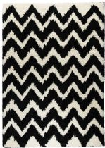 Well Woven Contemporary Madison Shag Passion Chevron Area Rug Collection