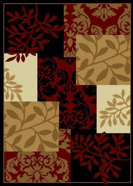 well woven miami fall espresso country & floral area rug collection