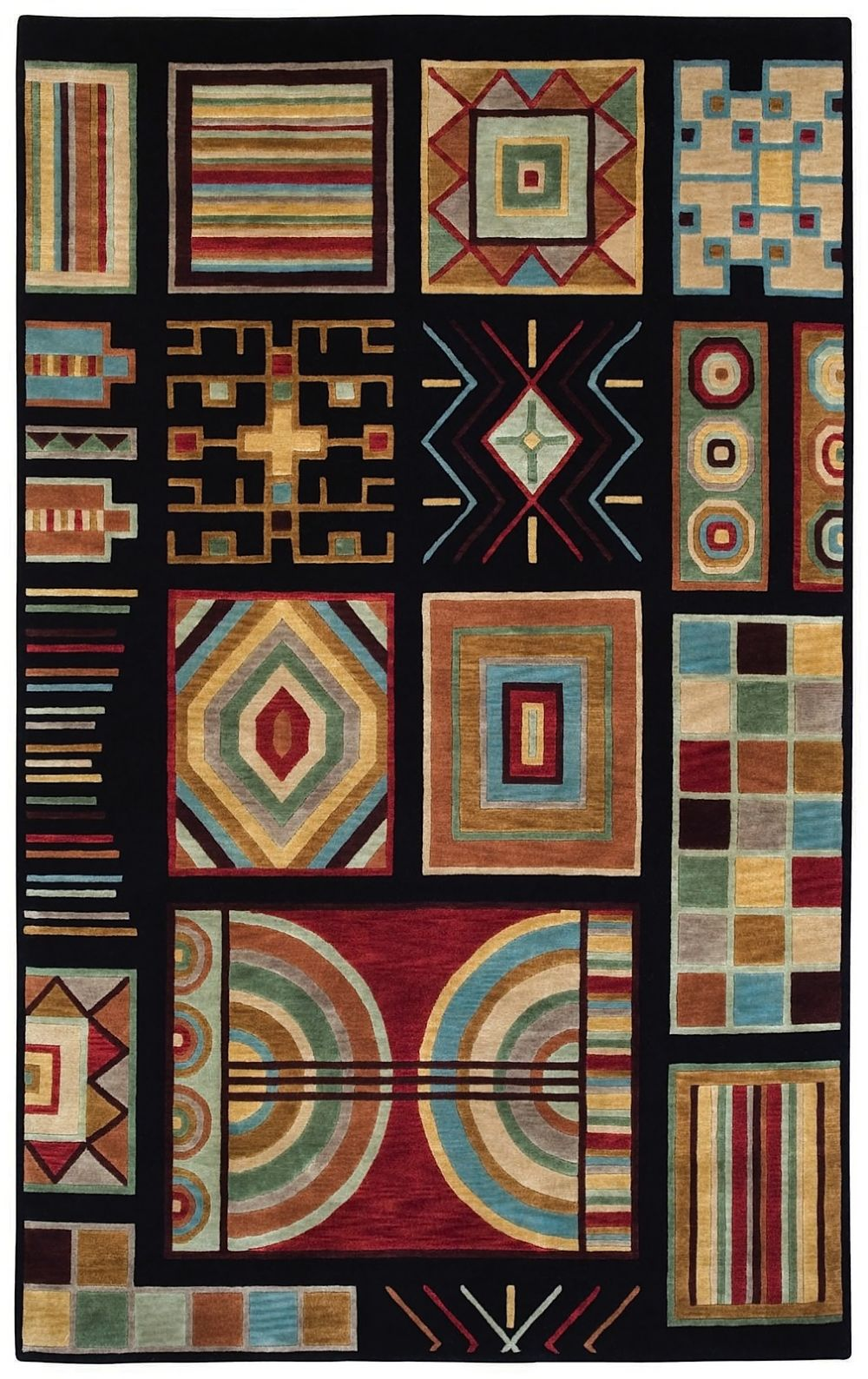 capel crystalle-aztec contemporary area rug collection