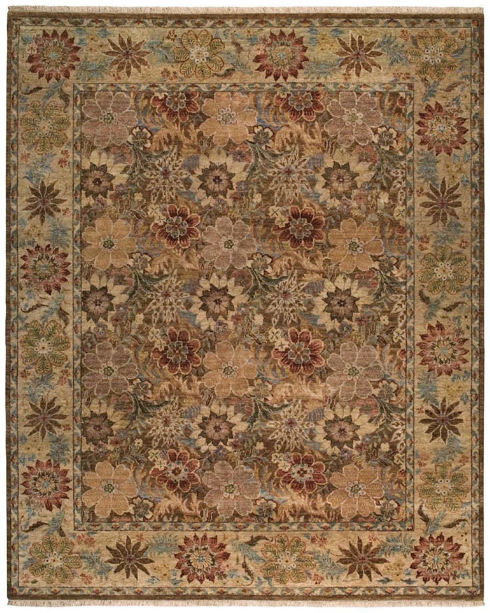 capel boca park-floral transitional area rug collection