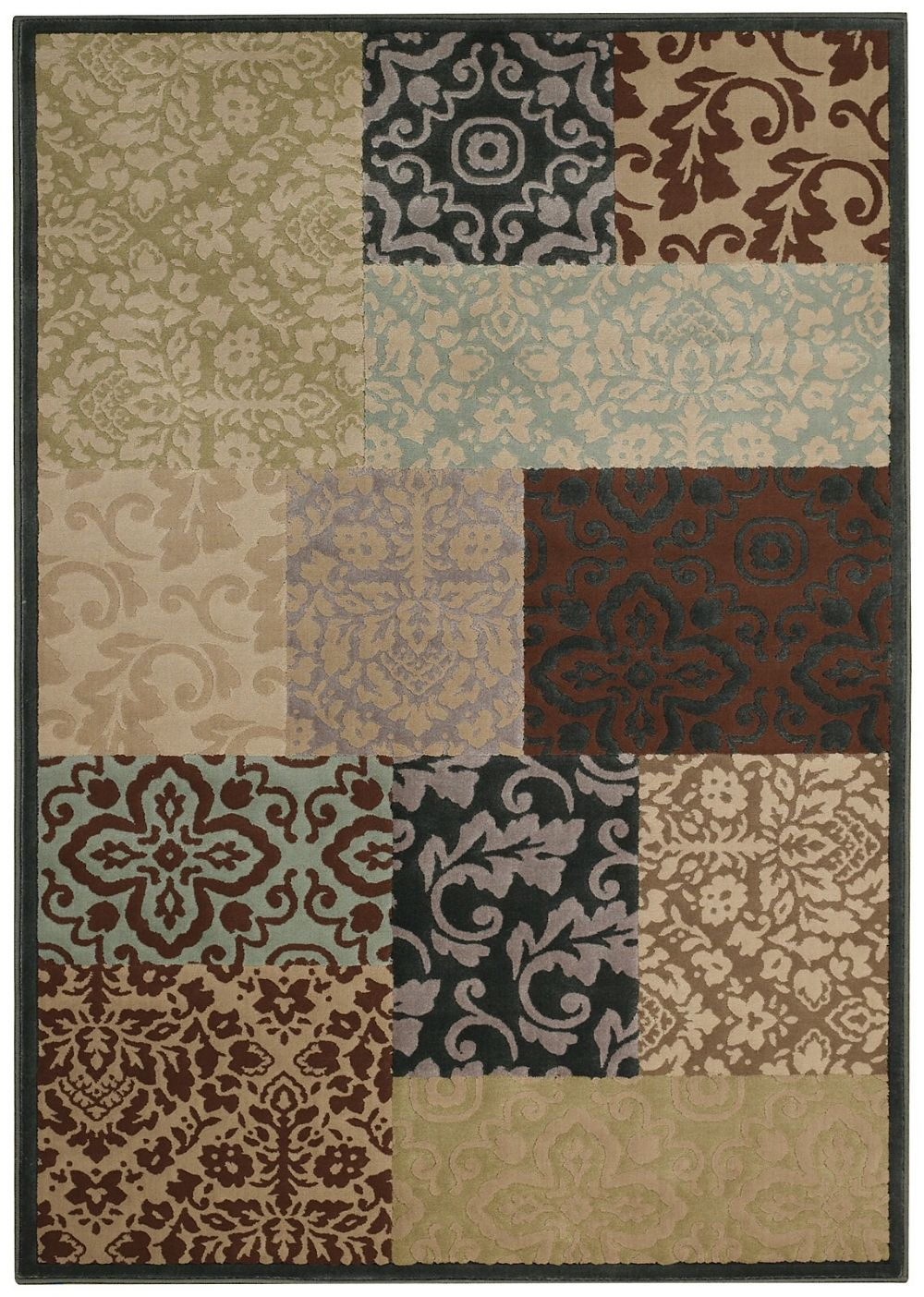 capel quiescent-damask sq. contemporary area rug collection