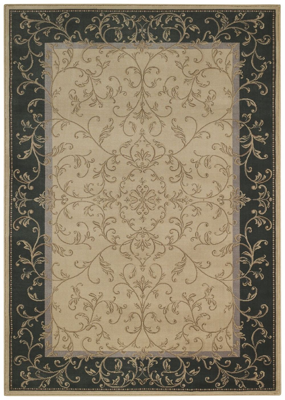 capel quiescent-scroll transitional area rug collection