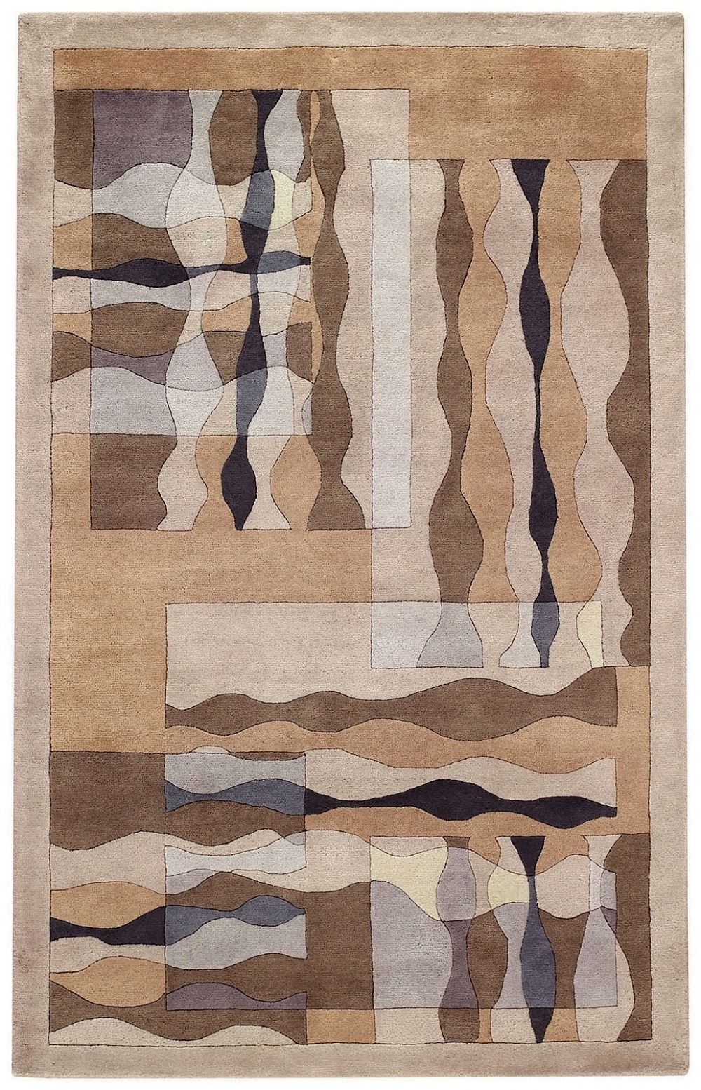 capel regal-waves contemporary area rug collection