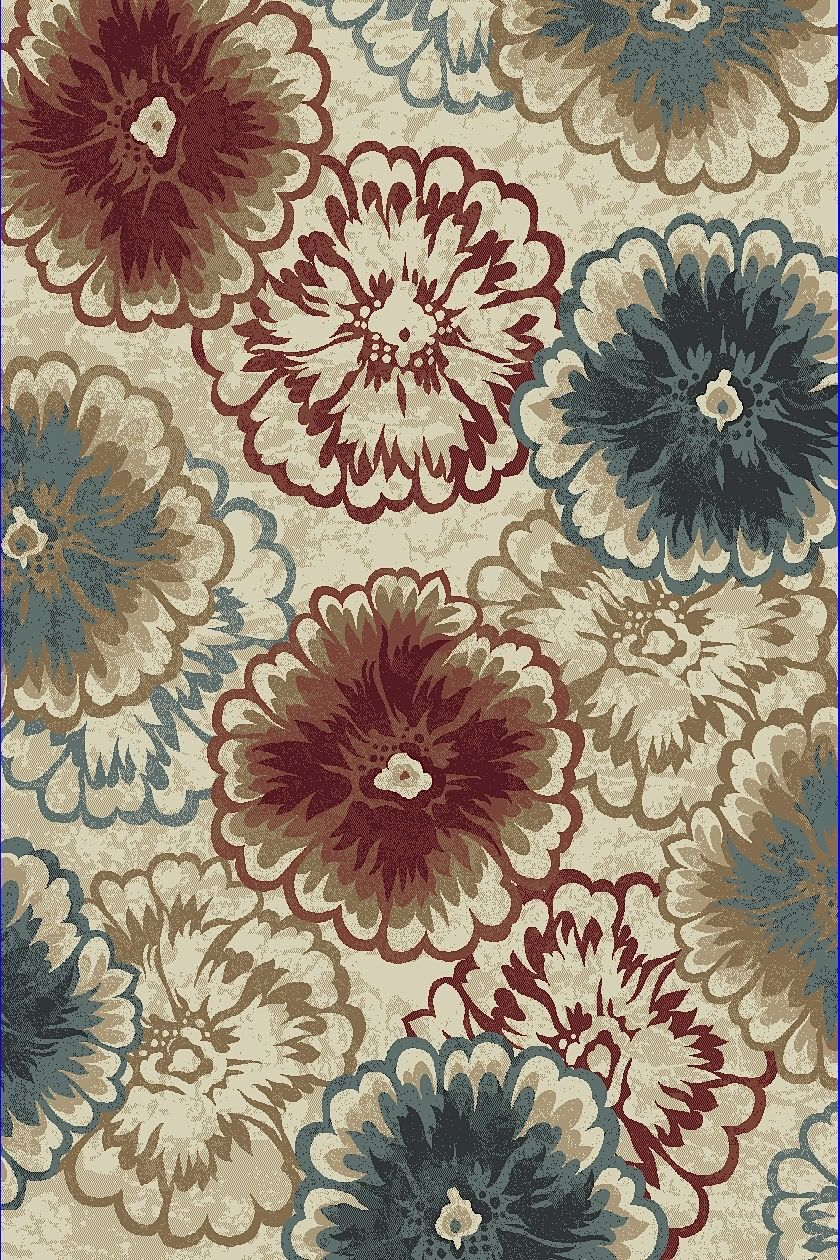 dynamic rugs melody country & floral area rug collection
