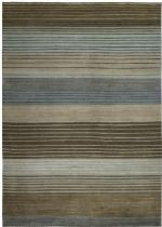 Couristan Solid/Striped Pokhara Area Rug Collection