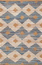 NuLoom Contemporary Marla Denim And Jute Diamonds Area Rug Collection