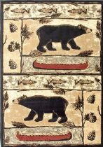 NuLoom Novelty Monnie Bears Lodge Area Rug Collection
