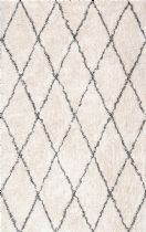 NuLoom Shag Sheba Cotton Diamond Shaggy Area Rug Collection