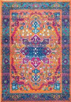 NuLoom Traditional Persian Fancy Medallion Velva Area Rug Collection
