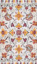 NuLoom Country & Floral Noella Floral Tassel Area Rug Collection
