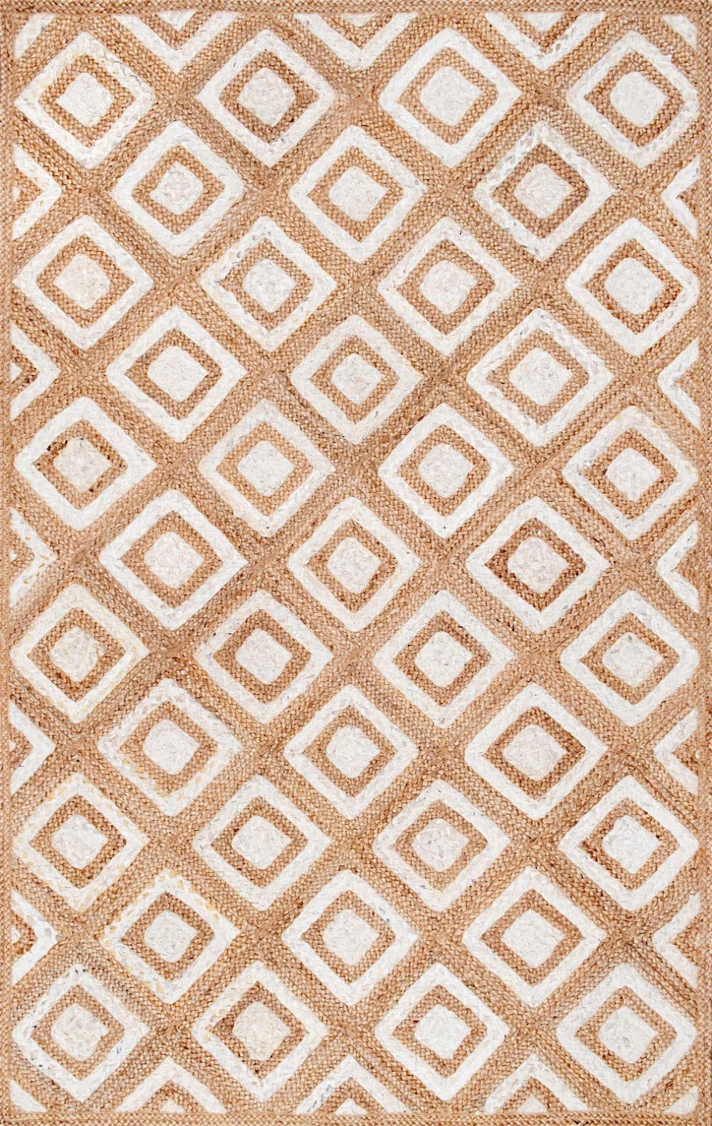 nuloom rosalva diamonds jute contemporary area rug collection