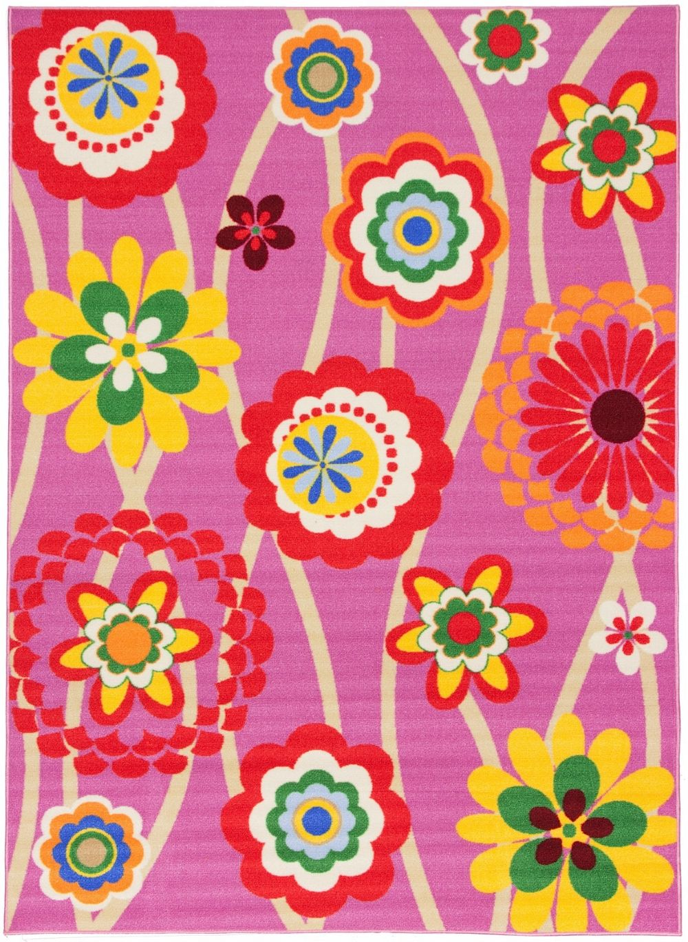 well woven starbright grace flowers kids area rug collection