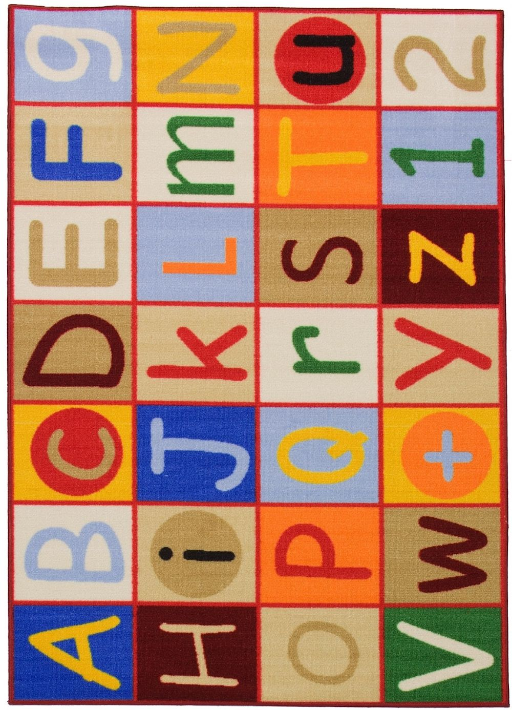 well woven starbright alphabet kids area rug collection