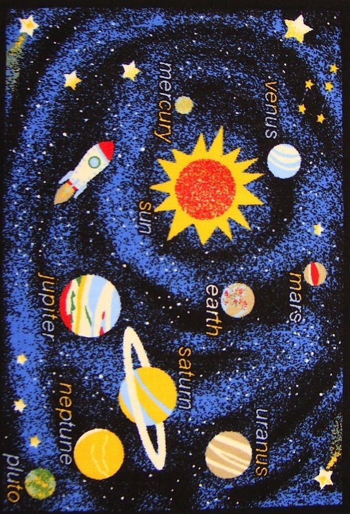 well woven starbright space xploration kids area rug collection