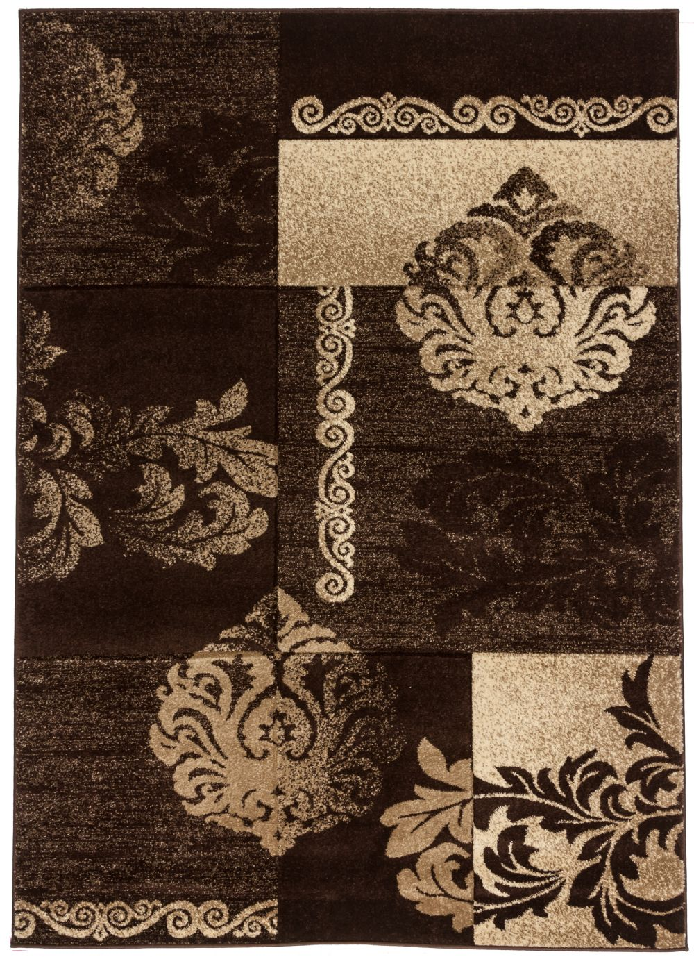 well woven ruby floral damask contemporary area rug collection